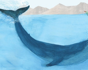 The Blue Whale giclee print