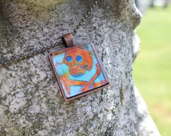 Scottish Gravestone Original Fine Art Print Necklace