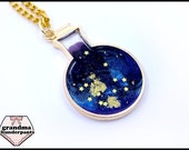 Space in a Bottle, Handmade Galaxy Bottle, Star Flask, Galaxy Necklace, Stars, Galaxy Jewelry