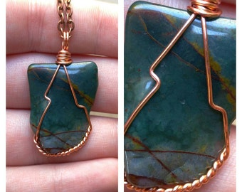 Wire Wrapped Fancy Jasper Necklace