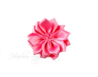 Bubblegum Pink Dainty Star Flowers 1-1/2 inch -Bubblegum Pink Fabric Flower, Bubblegum Pink Hair Flower, Pink Flowers for Hair, Pink Flowers