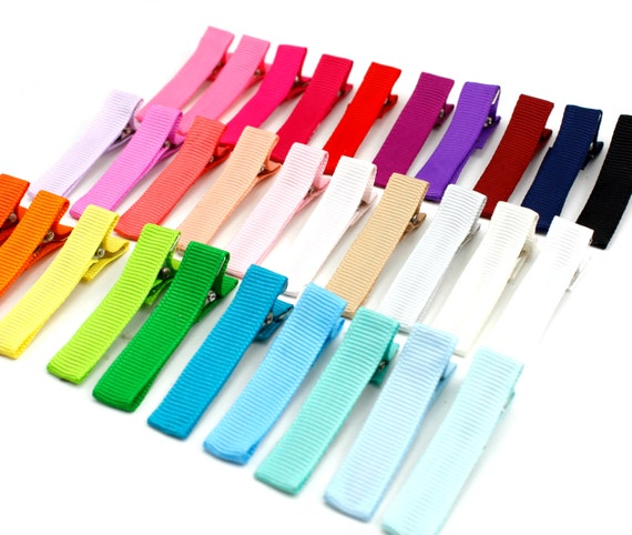 Lined Alligator Clips 1-3/4 inches (45 mm) - Partially Lined Clips, Alligator Hair Clips, Alligator Clips, Alligator Clip Bows, Hair Clip