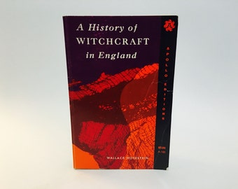 Vintage Occult Book A History of Witchcraft in England by Wallace Notestein 1968 Softcover