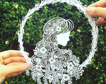 Reborn | Paper cut art | unique home decor