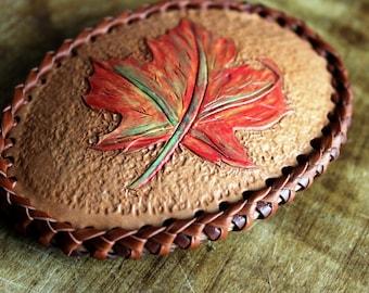 Canada Day Gift - Maple Leaf Belt Buckle - Leather Buckle - Gift for Dad - Cowboy  - Western Belt Buckle - Men's Belt Buckle