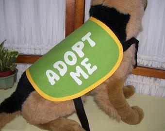 Dog Adopt Me Vest MEDIUM