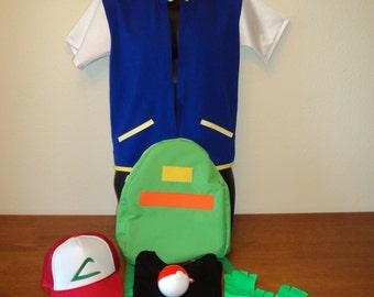 New Ash Orig Series Halloween Costume Full Set Pokemon Halloween Child Large