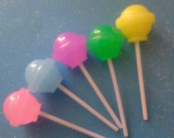 Kawaii lollipop decoden deco diy cabochons 5 pcs----USA seller