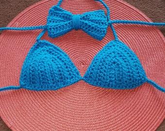 Crochet bikini top toddler size