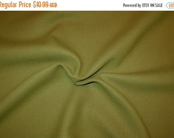 ON SALE SPECIAL--Fabulous Avocado Green Double Faced Wool Fabric--One Yard