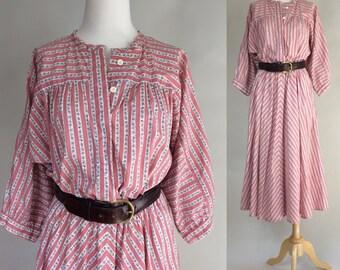 70s Boho Dress / Vintage 1970s Boho Dress / Vintage 70s Boho Dress / 70s Vintage Dress / 1970s Boho Hippie Dress / Vintage Dress
