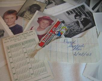 David Touched This 1963 FUN Muse Lot Mini Art Supply Inspiration Kit Sweet / Heartbreaking Finds 14 pcs Bazooka Joe, Nuns, David's  Cooties