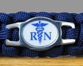 Registered Nurse Paracord Bracelet, Survival Bracelet