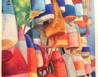 Watercolor Hanging Buoys Art Print