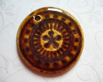 Ember Glow Ceramic Pendant