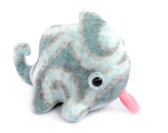 Lil Blue Swirl Chameleon Plush