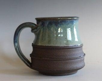 Pottery Coffee Mug, 15 oz, unique coffee mug, handmade ceramic cup, handthrown mug, stoneware mug, wheel thrown pottery mug, ceramics