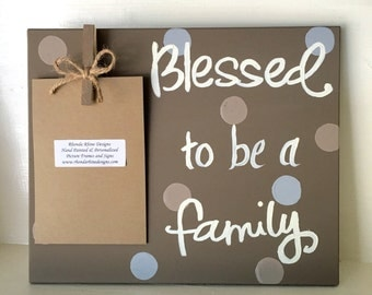 Blessed to be a Family Mocha Clip Frame