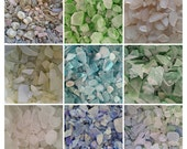 Hand Tumbled Manmade Seaglass- Crafting, Creating, Decorating, Arts, Crafts- Smokey Amethyst, Green, Champagne, Citron, Aqua, Blue, Pastel