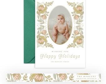 Whimsical Christmas 5x7 WHCC Card 3 + Address Sticker