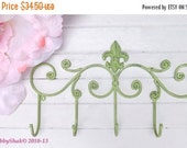 Fleur de Lis / Coat rack / Shabby Chic / Indoor/Outdoor /Metal wall hook /Bathroom hook / Shabby Chic Decor