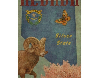 NEVADA 1F- Personalized Leather Journal Cover Moleskine Field Notes Custom