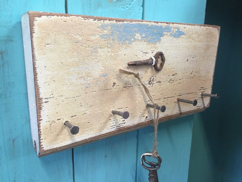 Key Jewelry Holder Hook Rack Vintage Skeleton Key Horizontal