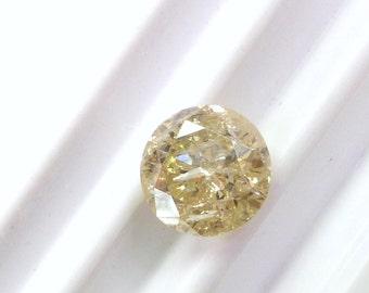 Genuine Natural Diamond. XXL! Over One Carat. Round Brilliant Cut. FREE FedEx. P-S Color Grade, I1 Clarity.  1 pc. 1.28 cts. 6.8mm (Dia238)