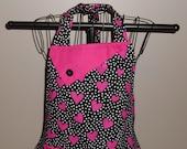 Hot Pink Hearts and Polka Dots Women's Apron