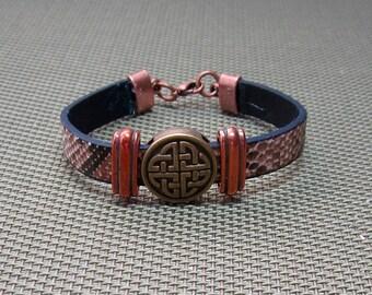 Eternity on Snakeskin Bracelet