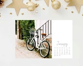 2017 Bicycle Calendar - 4x6 Bike Photo Calendar - Small Holiday Gift for Cyclist - Little Christmas Present - Stocking Stuffer - Photography