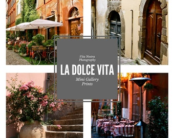 Italy Travel Prints - 5x5 Photos - Italian Photography - Small Wall Art - Tuscany Rome Sicily Home Decor Stocking Stuffer Art La Dolce Vita