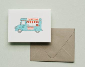 Letterpress Card - Food Truck