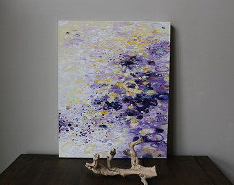 Art Painting ,abstract painting,canvas art,acrylic painting, purple PASTEL YELLOW,modern abstract art Canvas Wall art - contemporary art