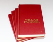 William Faulkner Set of Books 4 Vols. Dates 1929 to 1956, 1957, 1958, 1959, Hardbacks, Like Nu