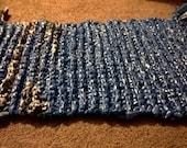 blue plastic rug