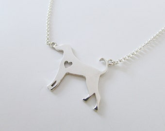 Dog necklace dog pendant dog silhouette jewelry custom pet necklace in sterling silver pet pendant pet silhouette doggie necklace