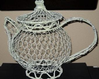 Vintage Wire Teapot