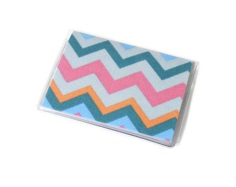 Card Case Mini Wallet Pastel Chevron