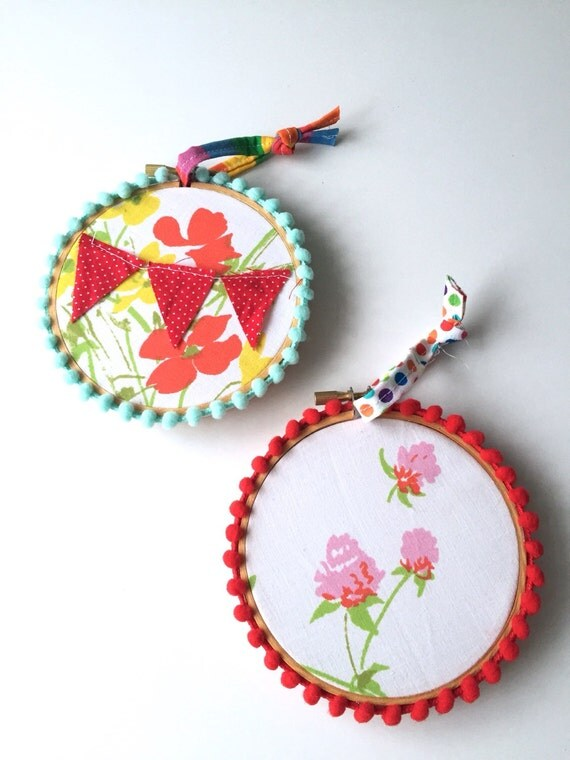 Items similar to hoop art embroidery wall hanging