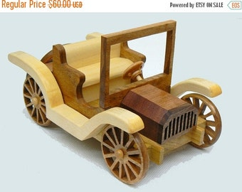 25% store sale Old Car Wood Toy Buick Roadster 1911