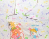 Popples vintage 80s cartoon style upcycled purse long strap