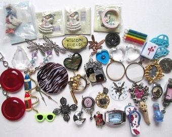 Costume Jewelry Pendant & Embellishment Mix, Vintage Lot 45