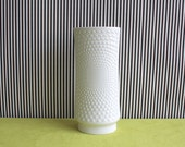 Arzberg Glossy Porcelain Vase With Heart Pattern Relief