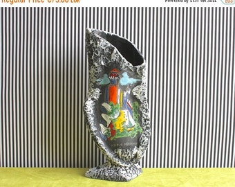 SALE LARGE Mid Century Modern Italian Biomorphic Pottery Vase San Marino