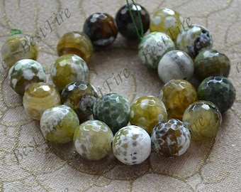 Charming 18mm Faceted agate round Gemstone Loose Beads,agate gemstone loose bead,semi-precious stone bead