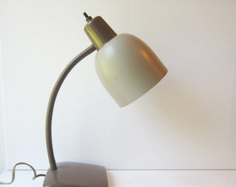 ON SALE SALE Vintage Industrial Lamp - Gooseneck Desk Lamp - Home / Office - Task Light