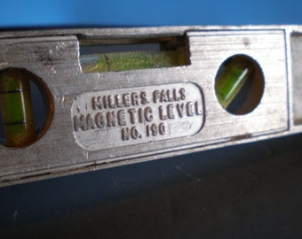 Vintage Mid Century Metal Tool - Magnetic Leveler - Millers Falls