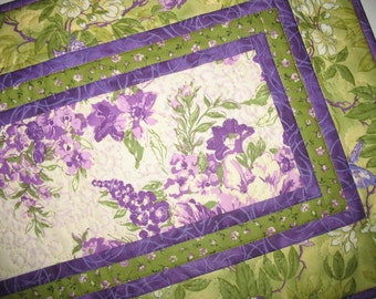 Spring Table Runner, Floral, Summer, quilted, fabric from Free Spirit