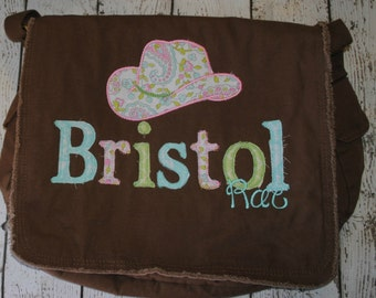 Brown Personalized Messenger Diaper Bag